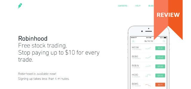 Robinhood Commission-Free Investing  Price Deals July